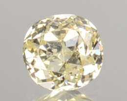 0.14 Cts Untreated Natural Diamond Fancy Yellow Round mix Cut Africa