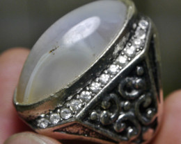 98.75 CT UNTREATED Indonesian Chalcedony Agate Jewelry Ring