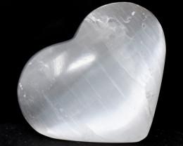 Genuine 290.00 Cts Selenite Heart Shape Gem