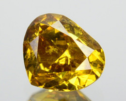 ~UNTREATED~ 0.32 Cts Natural Diamond Fancy Yellow Heart mix Cut Africa