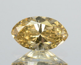 ~UNTREATED~ 0.23 Cts Natural Diamond Fancy Yellow Marquise Cut Africa