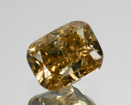 ~UNTREATED~ 0.22 Cts Natural Diamond Fancy Yellow Cushion Cut Africa