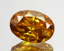 ~UNTREATED~ 0.43 Cts Natural Diamond Fancy Yellow Oval Cut Africa