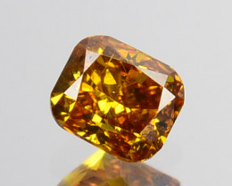 ~UNTREATED~ 0.19 Cts Natural Diamond Fancy Yellow Cushion Cut Africa