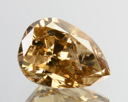 ~UNTREATED~ 0.60 Cts Natural Diamond Fancy Yellow Pear Cut Africa