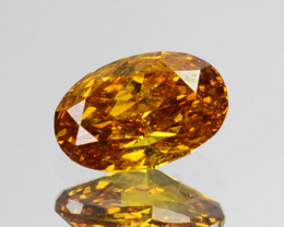 ~UNTREATED~ 0.19 Cts Natural Diamond Fancy Yellow Oval Cut Africa