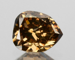 ~UNTREATED~ 0.25 Cts Natural Diamond Fancy Yellow Pear Cut Africa