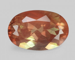 2.10 Carat Very Rare Earth Mined Brown & Green Color Andesine Gemstone