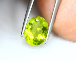 3.15Ct Natural Green Peridot Oval Cut Lot LZB666