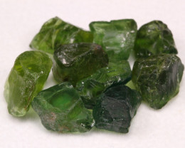 Apatite 53.20Ct Natural Green Apatite Rough Lot A1401