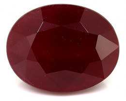 2.96 Carat Oval Ruby: Pigeon Blood Red