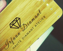 Custom Wood and Diamonds Phone Cover