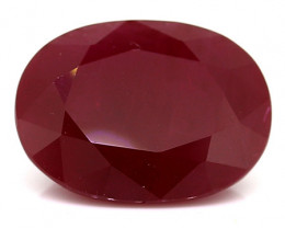 3.49 Carat Oval Ruby: Deep Rich Red
