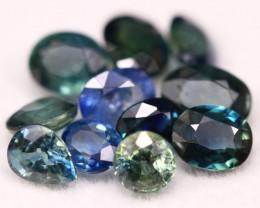 Sapphire 4.74Ct Natural Madagascar Blue Parti Color Sapphire Lot B1409