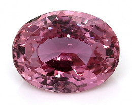 1.70 Carat Oval Pink Sapphire: Rich Pink