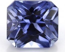 0.87 Carat Emerald Cut Blue Sapphire: Fine Blue