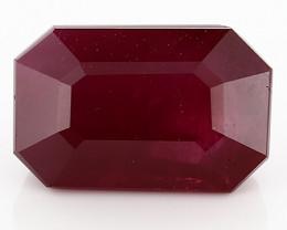 2.01 Carat Emerald Cut Ruby: Deep Rich Red