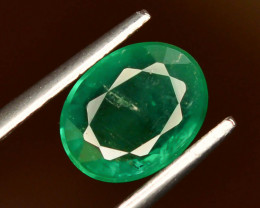 AAA Grade Top Color 1.45 ct Zambian Emerald