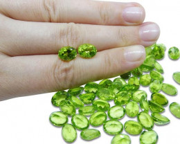 2 Stones - 2.86 ct Peridot 9x7mm Oval-$1 No Reserve Auction