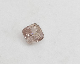 0.18ct Fancy Light  Pink Diamond , 100% Natural Untreated