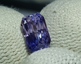 NO HEAT 1.64 CTS CERTIFIED NATURAL STUNNING VIOLET BLUE SAPPHIRE SRI LANKA