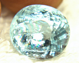 6.55 Fancy Natural Brazilian Aquamarine - Superb
