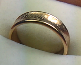 14 K Gold Wedding Ring Size 9.25