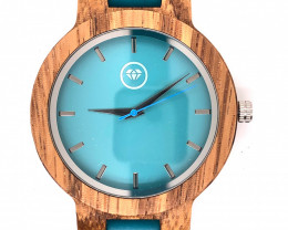 Blue Turquoise Treasures Eco Friendly Bamboo watch WO 85