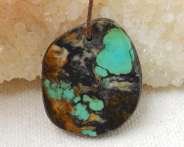 31.5cts Sale Turquoise ,Handmade Gemstone ,Turquoise Nugget Pendant ,Lucky