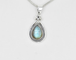 LAB PENDANT 925 STERLING SILVER NATURAL GEMSTONE JP16