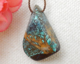 29.5cts Turquoise ,Handmade Gemstone ,Turquoise Nugget Pendant ,Lucky Penda