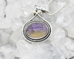AMETHYST PENDANT 925 STERLING SILVER NATURAL GEMSTONE JP52