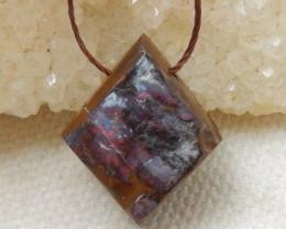 15cts Boulder Opal Gemstone Pendant Bead Fire, Rare Australian Opal E585