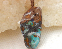 8.5cts Boulder Opal Gemstone Pendant Bead Fire, Rare Australian Opal E579
