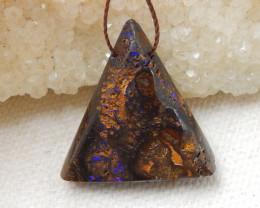 23cts Boulder Opal Gemstone Pendant Bead Fire, Rare Australian Opal E578