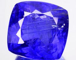14.53 Cts FABULOUS NATURAL BLUE TANZANITE CUSHION CIT TANZANIA