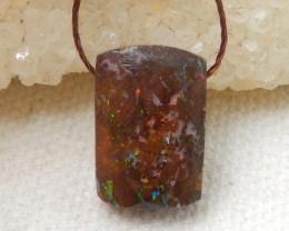 9.5cts Boulder Opal Gemstone Pendant Bead Fire, Rare Australian Opal E575