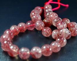 397.00 Cts Unheated ~ Natural Cherry Quartz Beads