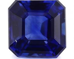 0.87 Carat Emerald Cut Blue Sapphire: Royal Blue