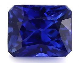 0.66 Carat Emerald Cut Blue Sapphire: Royal Blue