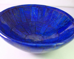 1790 CT Unheated ~ Natural Blue  color Lapis Carved Bowl Special Shape