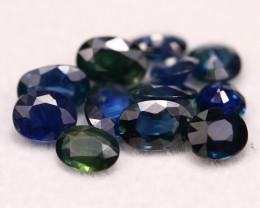 Sapphire 5.61Ct Natural Madagascar Blue Parti Color Sapphire Lot B1504