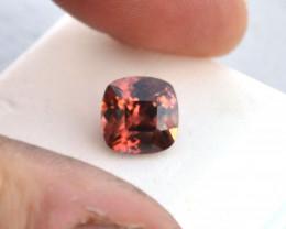 5.72 Carat Fantastic Rosy Orange Zircon