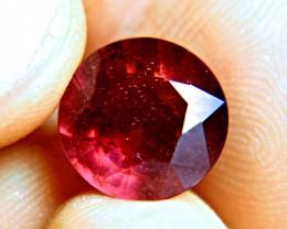 9.14 Carat Fiery Round Ruby - Superb