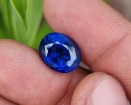GOOD QUALITY 7.64 CTS NATURAL STUNNING CORNFLOWER BLUE SAPPHIRE SRI LANKA