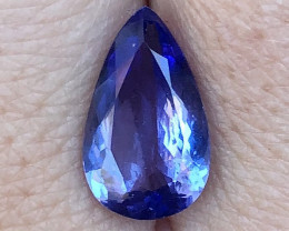 4.07 ct AAA Tanzanite Pear - Royal Blue - Violet