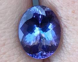3.48 ct AAA Tanzanite Oval - Royal Blue / Violet