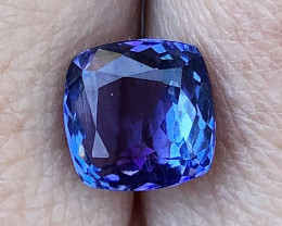 3.00 ct AAA Tanzanite Cushion - Strong Blue