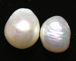 11 CTS NATURAL FRESH WATER PEARL BEADS ( 2PCS )   NP-211