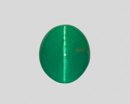 Cat's Eye Emerald, 4.40ct - Mined in Zambia | Certified by IGI